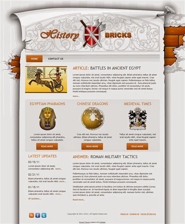 History Bricks - Free Drupal Theme