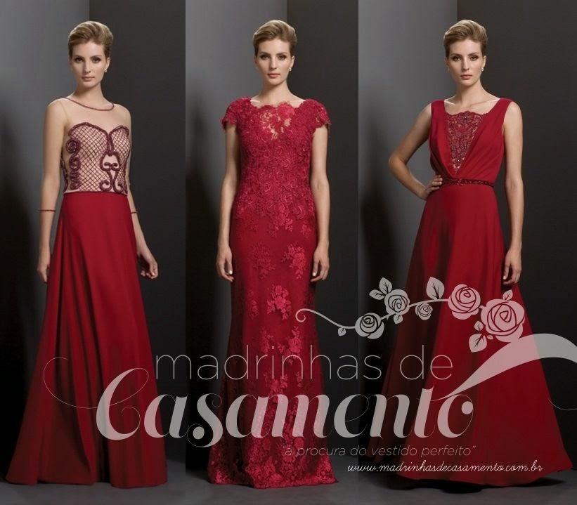vestido de festa 2015 vermelho