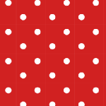 red polka dot paper
