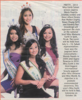 Miss Malaysia World,Miss Malaysia Universe,Miss Malaysia Earth, Miss Tourism International,Joanna Marie Faurillo(tengah),Deidre Ann Walker(kanan),Grace Chang(kiri)Xandria Ban (poingkakat)