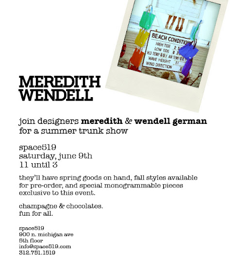trunk show Meredith Wendell