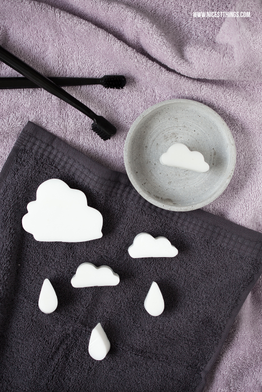 Seife in Wolkenform / Wolkenseife selber machen