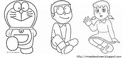 Blog de los nios Doraemon para colorear