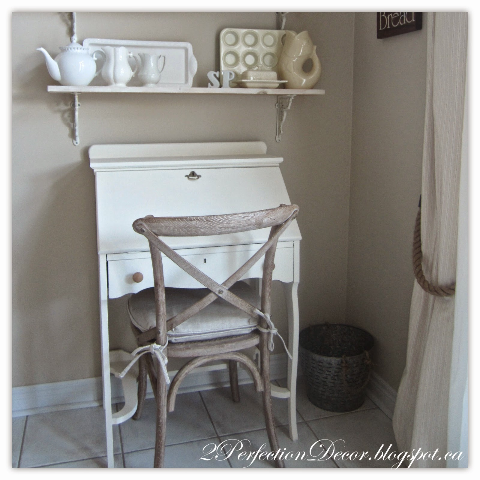 I Am Very Hy With How The Desk All Turned Out Now It Sits Pretty Under Our Open Shelving In Kitchen
