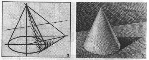 Треугольник с тенями рисунок