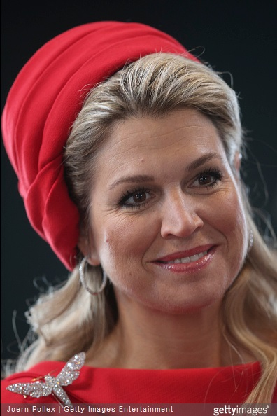 Queen Maxima of the Netherlands is pictured at the Fischautkionshalle during their state visit on March 20, 2015 in Hamburg, Germany
