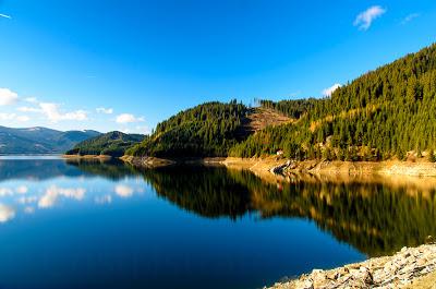 Lacul barajului Vidra - Drapta