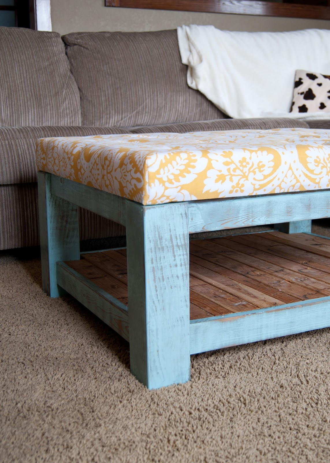 DIY Ottoman - Cut List and Instructions
