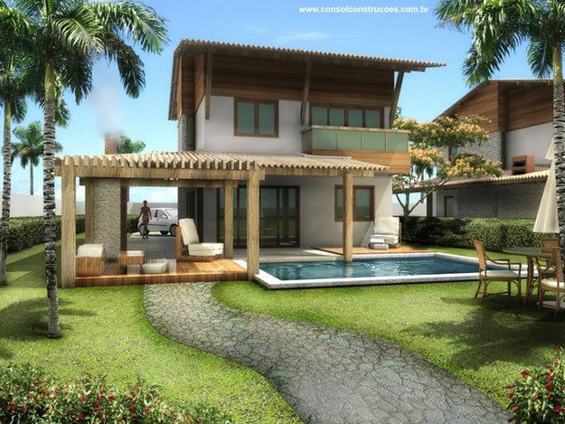 imagens jardins casas : imagens jardins casas:Casa De Campo Rustica