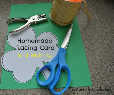 clover lacing card