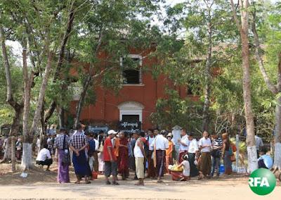 သာယာဝတီၿမိဳ႕နယ္ တရားရံုးကို ေတြ႔ရစဥ္ Photo: Kyaw Zaw Win/RFA