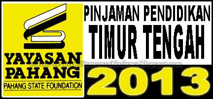 Tawaran Pinjaman Pendidikan Yayasan Pahang untuk Pengajian ke Universiti-universiti Timur Tengah (Mesir, Jordan) 2013 | Scholarships