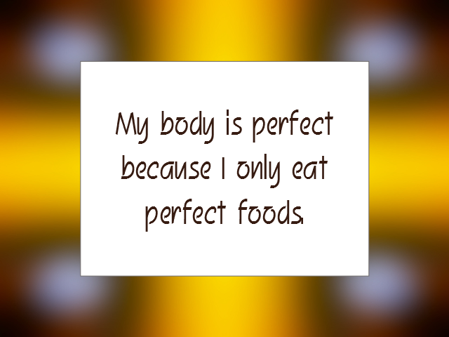 HEALTHY EATING affirmation
