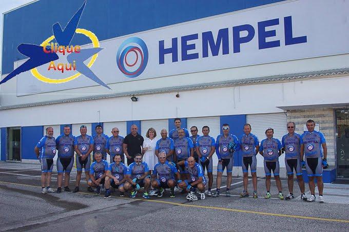 Apresentação da equipa Núcleo Cicloturismo Moitense - Tintas Hempel