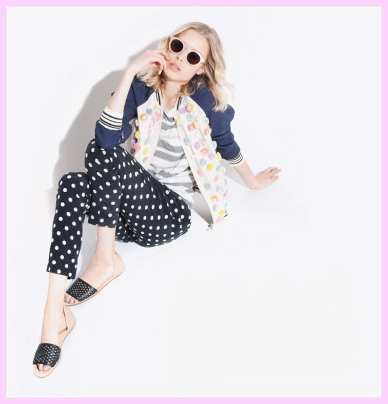 Polka dots pop art fashion