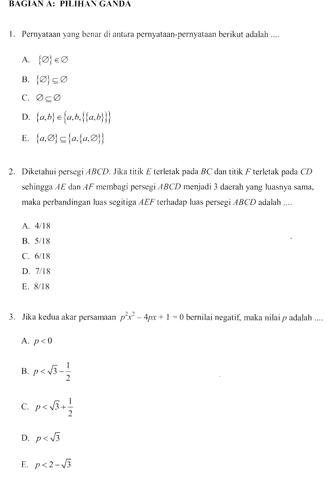Contoh Soal Latihan Olimpiade Sains Nasional Matematika Smp Pendidikan Kewarganegaraan