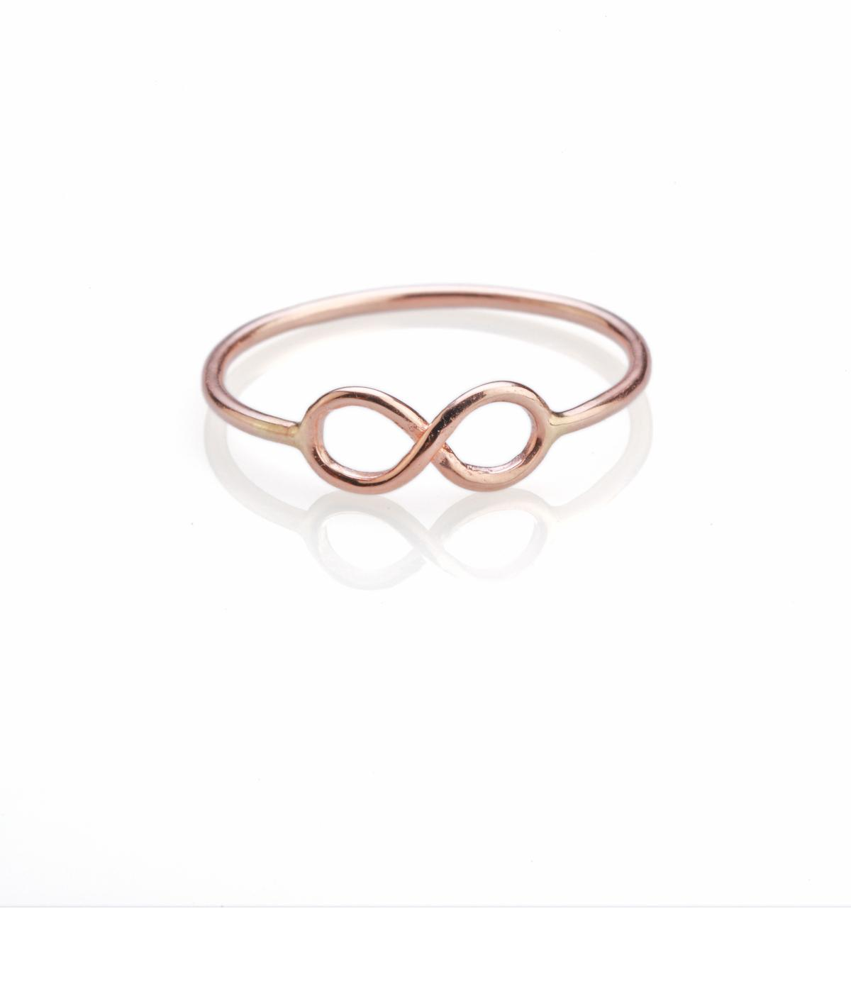 Rose Gold Infinity Ring