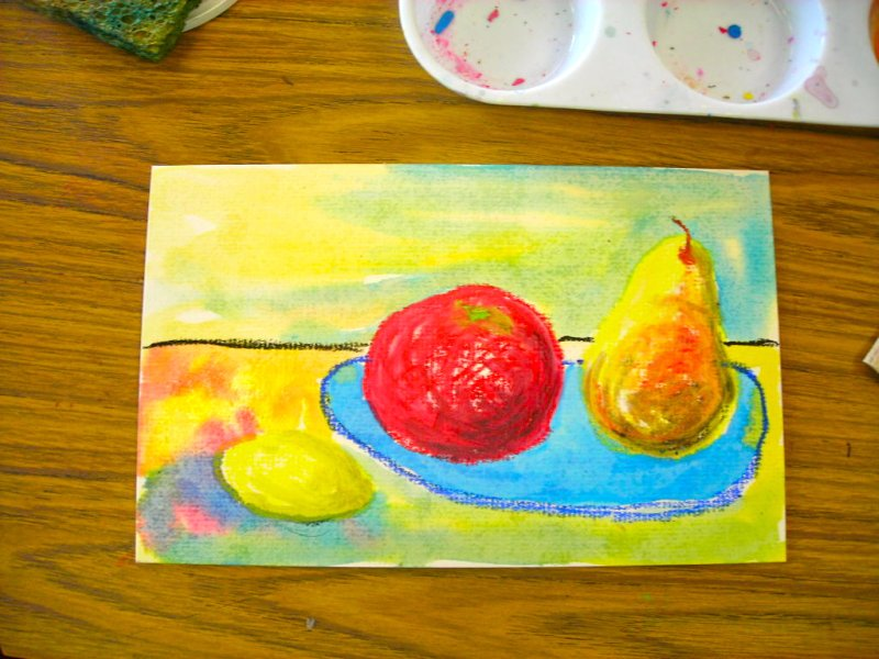Fine Lines Oil Pastels And Baby Oil Part 2