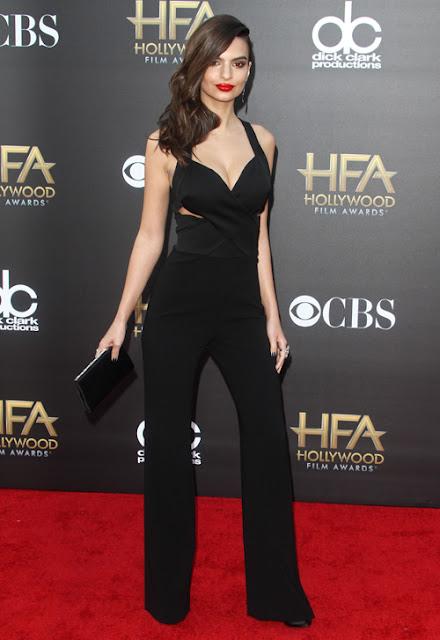 Người đẹp thu hút trong bộ jumpsuit khoét ngực tại sự kiện Hollywood Film Awards 2014.