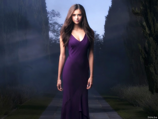 Bulgarian Actress Nina Dobrev lovely in Dress
