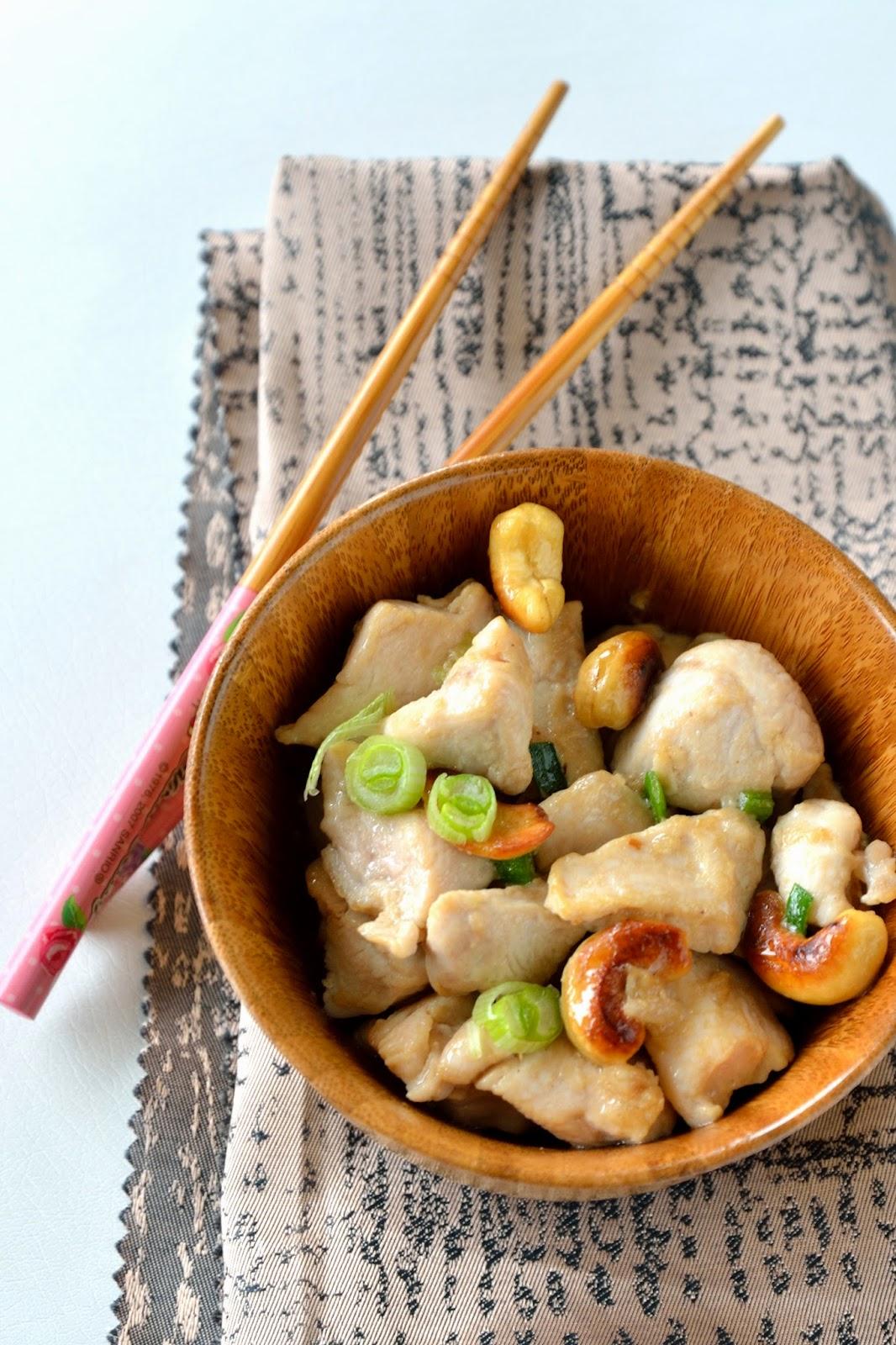 poulet cuisine au wok