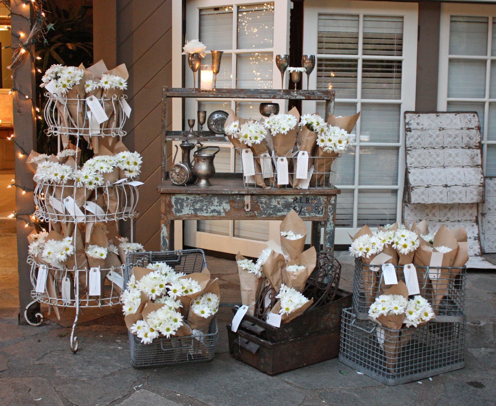 sTORIbook Weddings - Tori and Dean's Shabby Chic Wedding - Behind