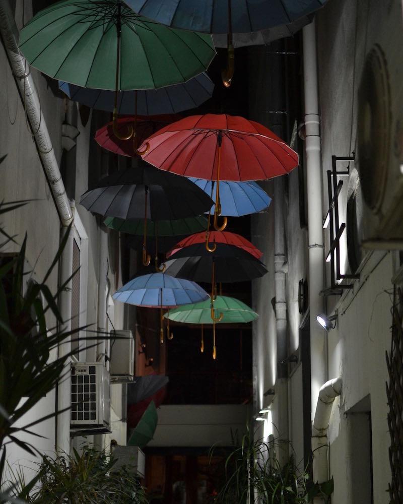 umbrella lane in Exarchia, Athens