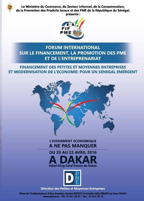 INSCRIPTION au Forum International sur les PME