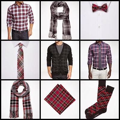 Express Men, Tartan, Plaid, Scarf, Bow tie, socks, pocket square