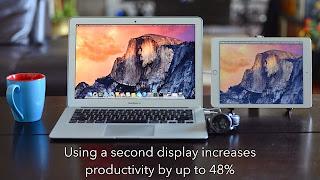 duet display ipad iphone second ecran partage