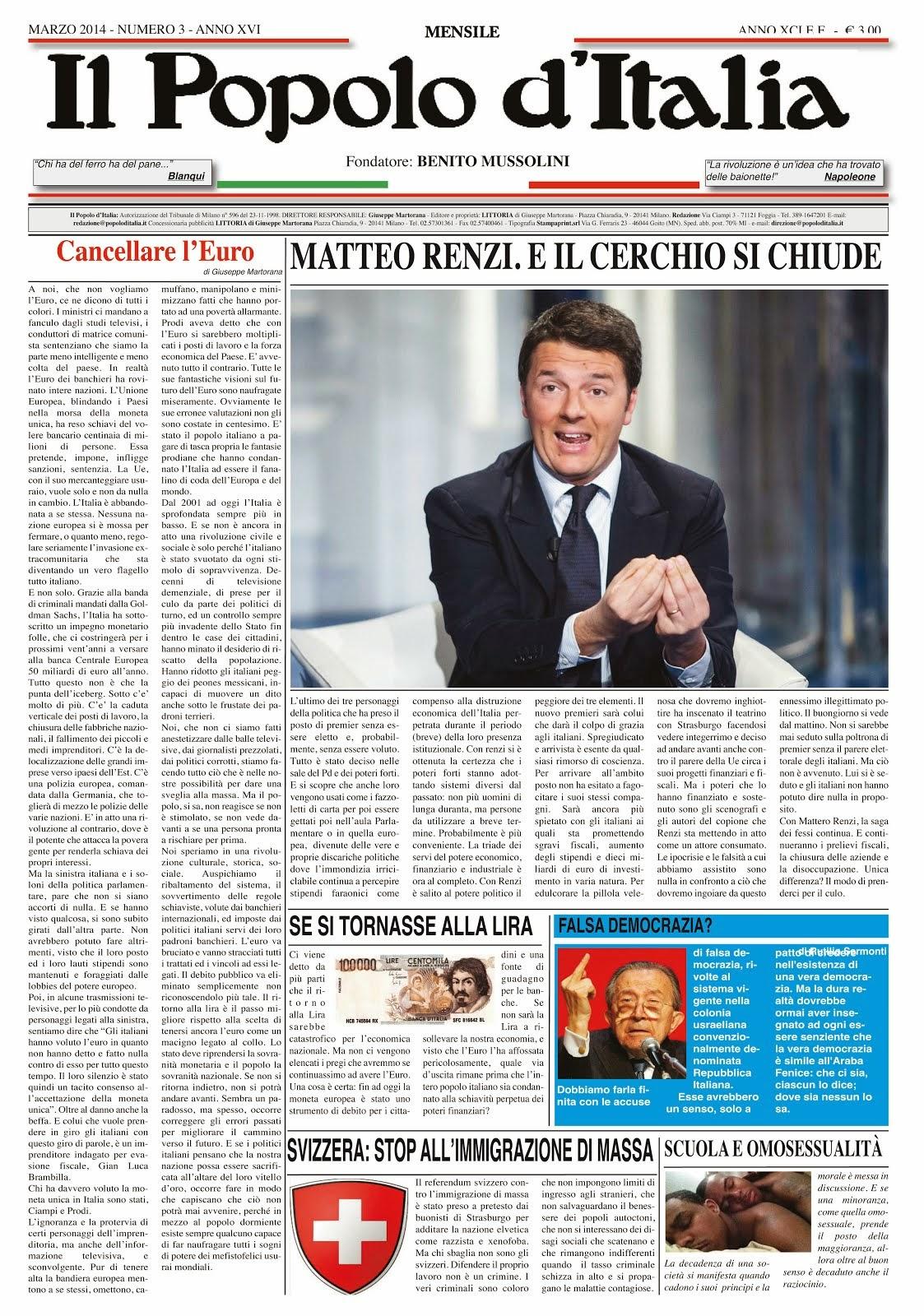 Il Popolo d'Italia Marzo 2014