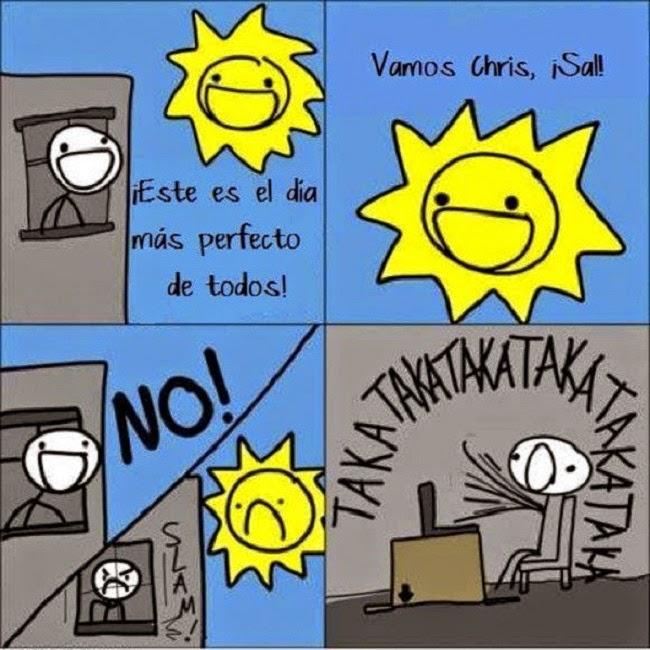 Siempre haces que el Sol se ponga triste