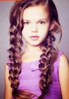Model rambut panjang bergelombang 2015 untuk anak perempuan