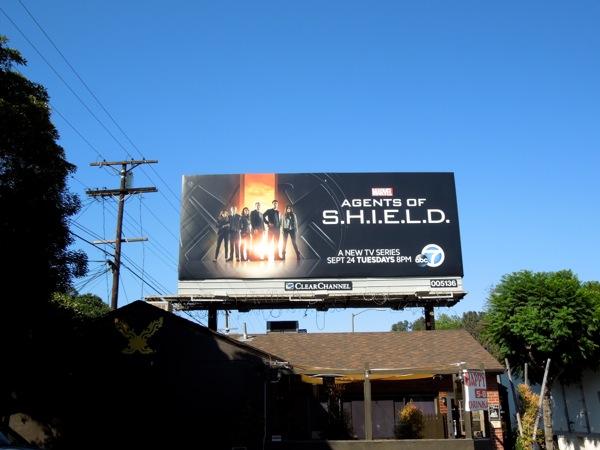 Marvel Agents of SHIELD season 1 billboard