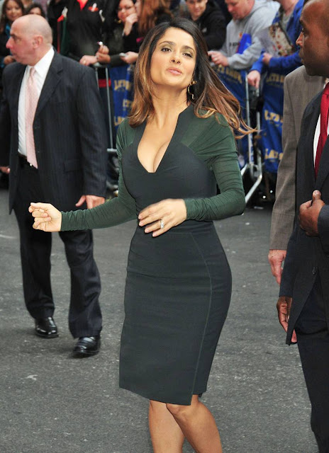 Salma Hayek Sizzles At 45 `