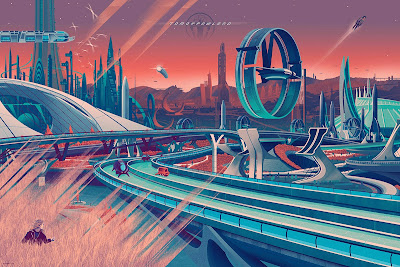 Tomorrowland Variant Screen Print by Kevin Tong