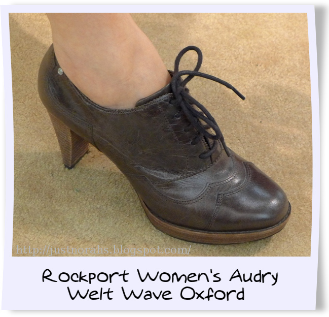 Rockport Women's Audry Welt Wave Oxford, a stylish look and a comfortable  fit for modern ladies like me! ^-^