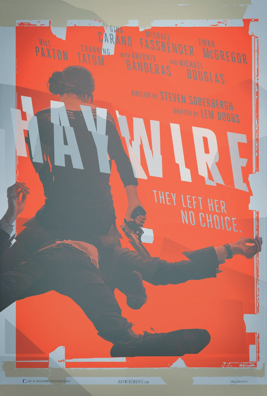 Haywire 1 sheet OS poster comic con Gina Carano Steven Soderbergh spy movie cines sex video