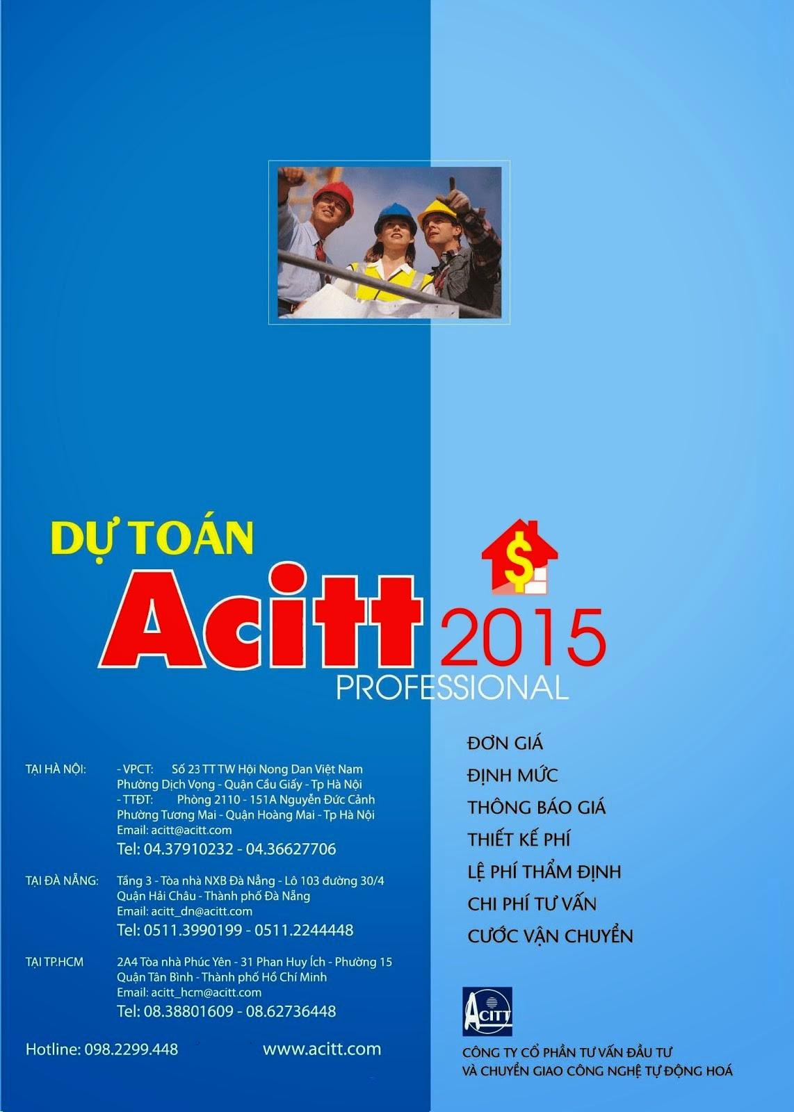 Dự toán Acitt 2015