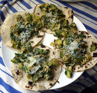 zucchini and egg tacos