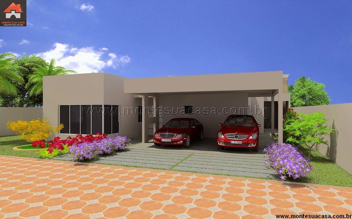 Projeto de casa t rrea de 200 m for Casas modernas 10 x 20