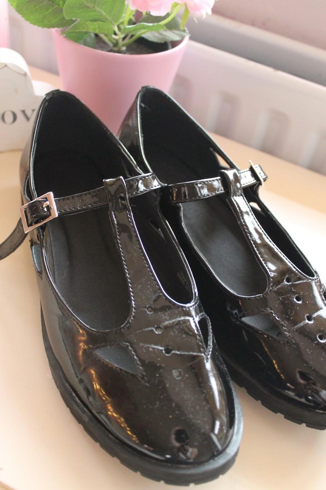 4fac2acb357d ASOS MOLLY T-Bar Flat Shoes - Black patent