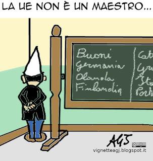 Renzi, ue, bruxelles, legge di stabilità, vignetta, satira