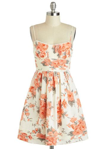 Beautiful Sleeveless Floral Dress