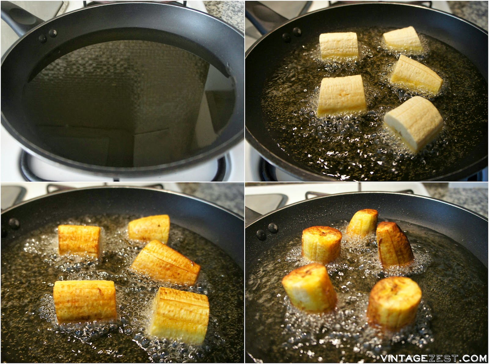 Patacones (Fried Green Plantains) on Diane's Vintage Zest!  #recipe #cooking #appetizer