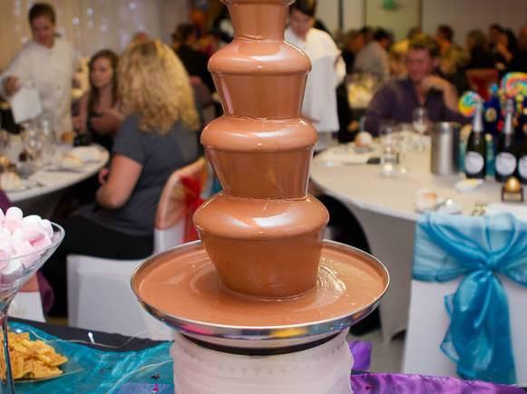 Cascada de chocolate recco pada