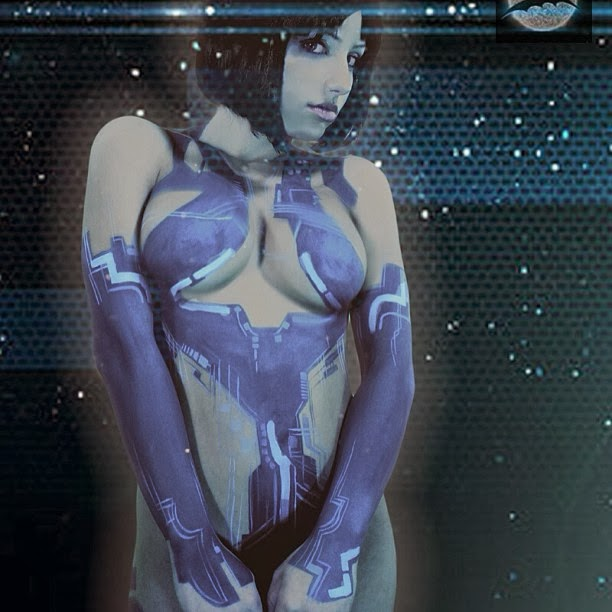 body paint cortana