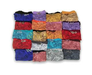 Warna pilihan moss crepe instant shawl terbaru