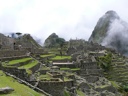 Machu Picchu Temple Complex with Wayna Picchu behind