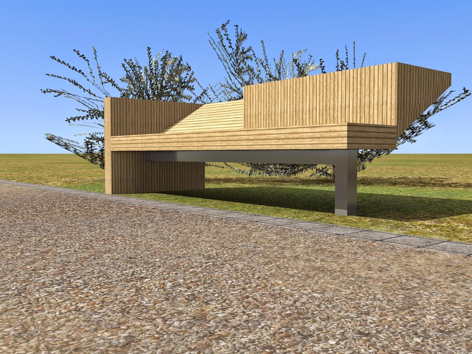Banc mobilier urbain kez architecte maison bois paris for Architecture en bois